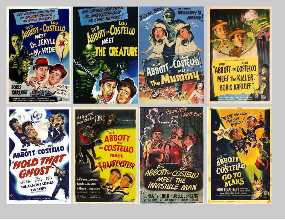 ABBOTT AND COSTELLO MOVIE POSTERS.