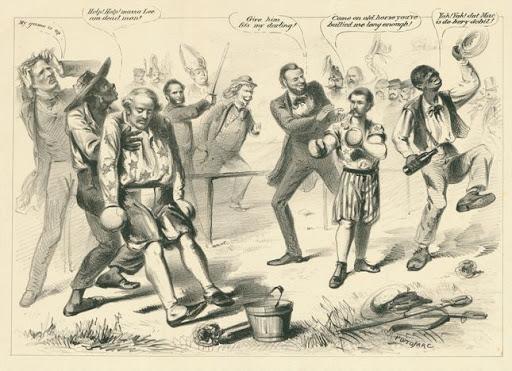Cartoon Political boxing cartoon 13_
