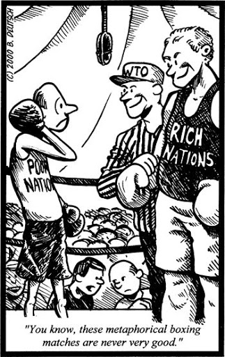 Cartoon political boxing cartoon 7_
