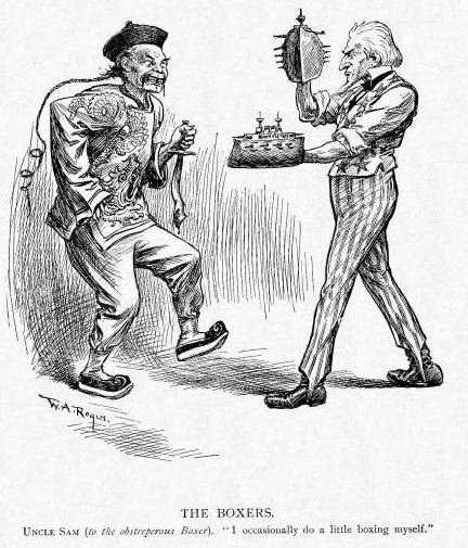 Cartoon political boxing cartoon 8.