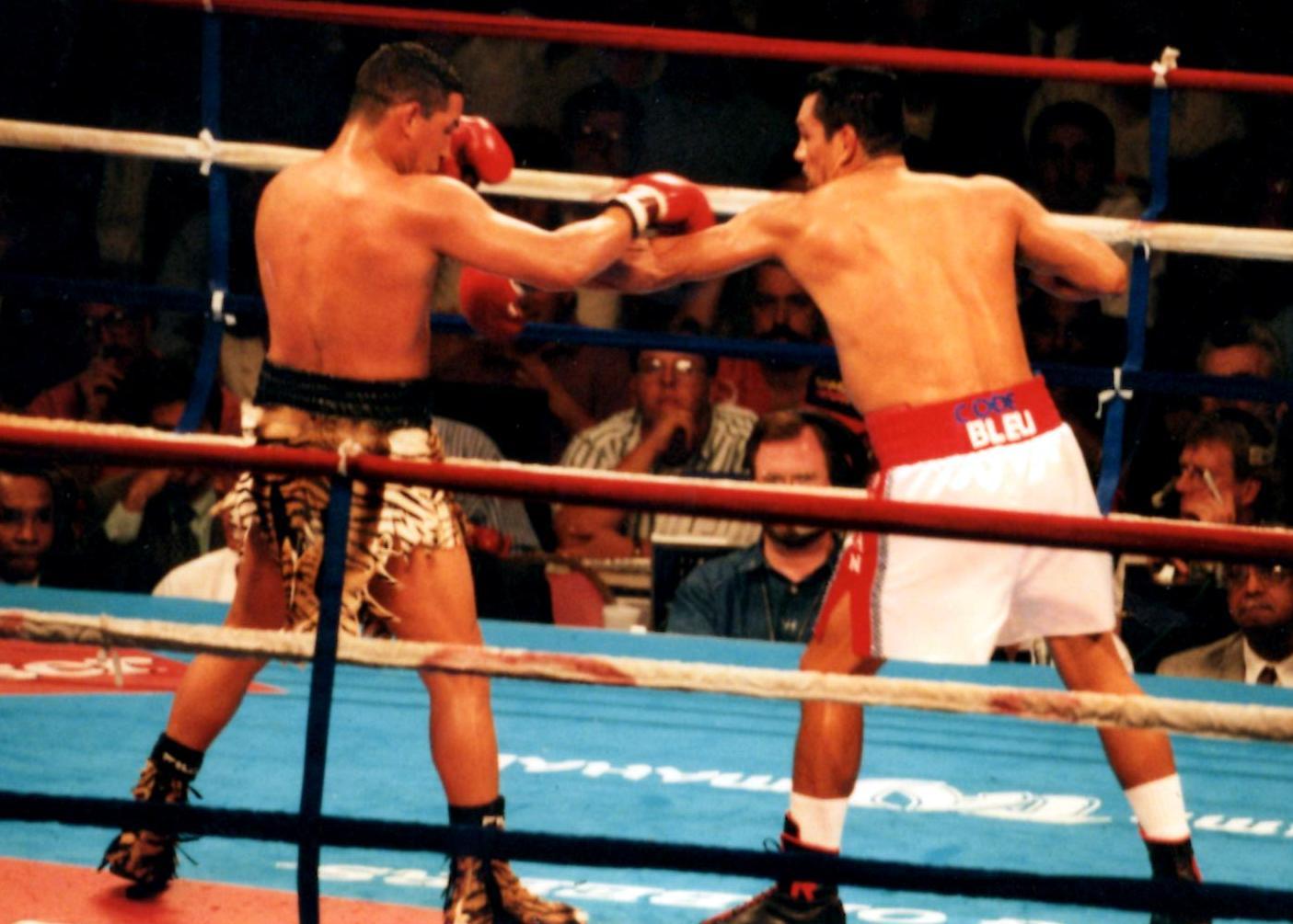 """Roberto Duran v. Hector """"Macho"""" Camacho in 1986 in Atlantic City."""