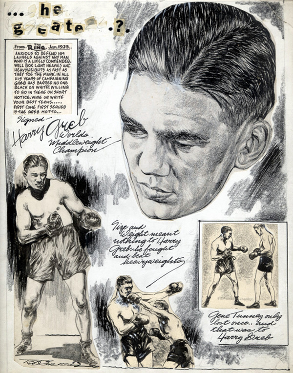 USABNnew boxing cartoon Harry Greb.