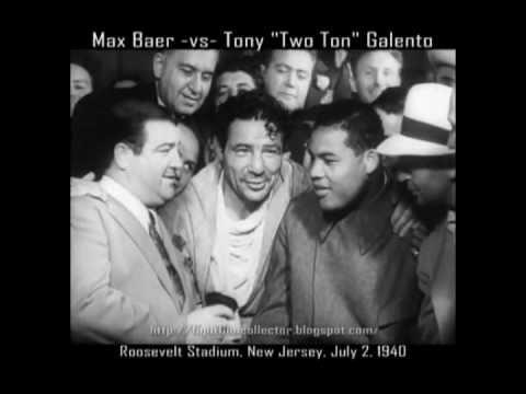 Celebrities - Lou Costello, Max Baer and Joe Louis. (CLICK PHOTO TO VIEW VIDEO OF THE INTERVIEW)