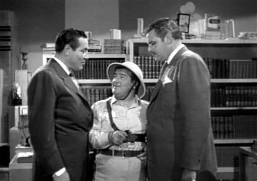 Max Baer, Lou Costello and Buddy Baer in Africa Screams.