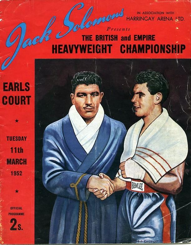 Fight Program - 1952-Jack-gardner-vs-Johnny-Williams boxing program.