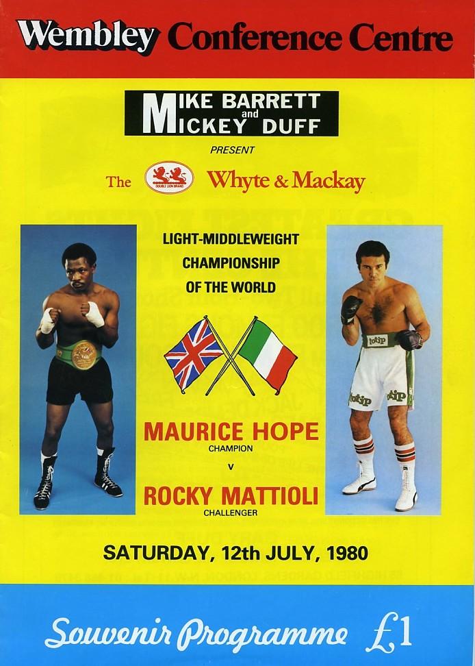 Fight Program - Hope-Matiioli Fight Program 1980.