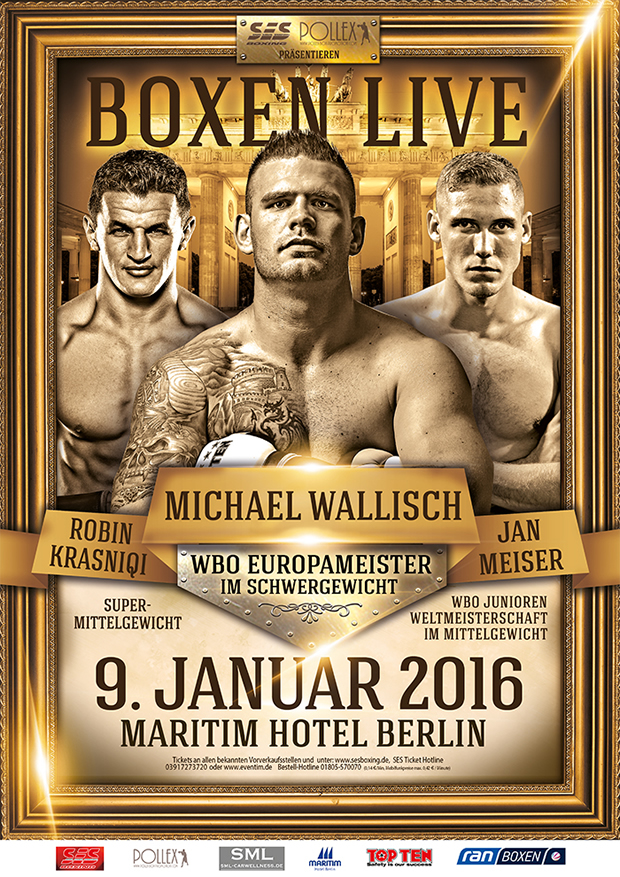 Wallisch vs. Bacurin Fight Poster.