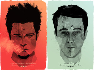Boxing cartoon poster - Fight Club.