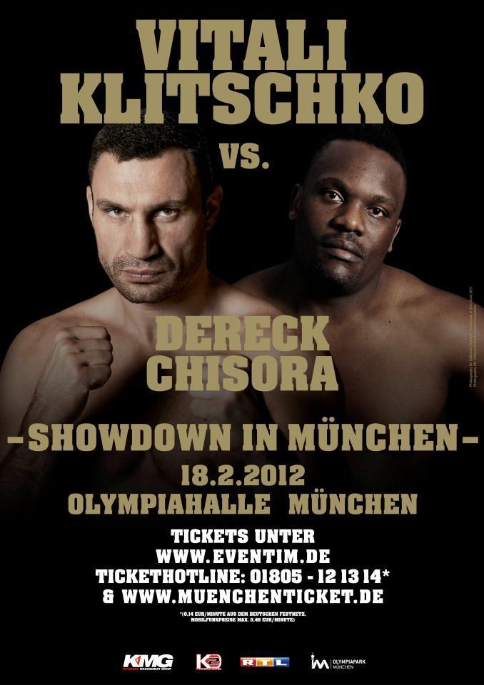 Fight Poster - Klitschko-Chisora.
