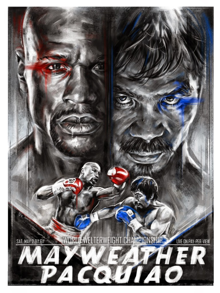 Fight Poster - Mayweather-Pacquiao best design.