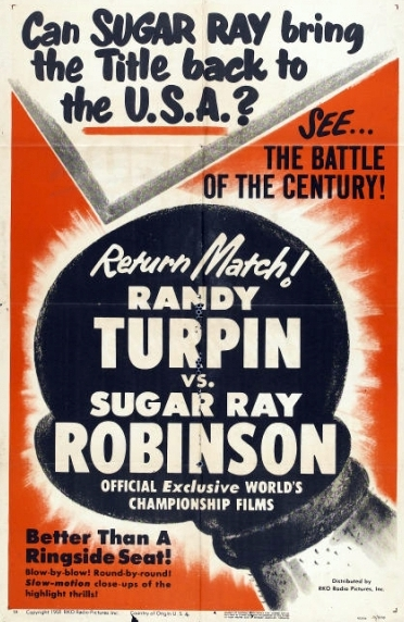 March Robinson-Turpin II Fight Film Poster.