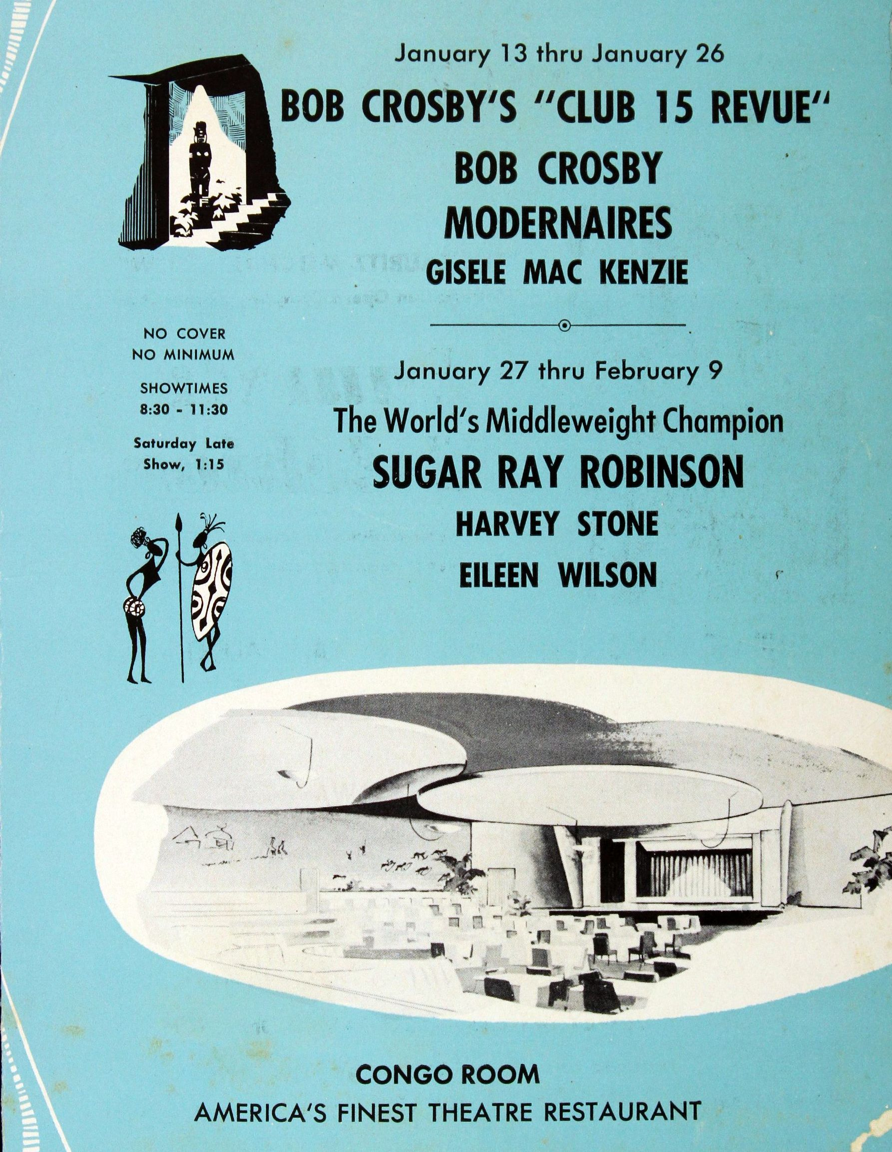 March Sugar Ray Robinson Performance Poster.