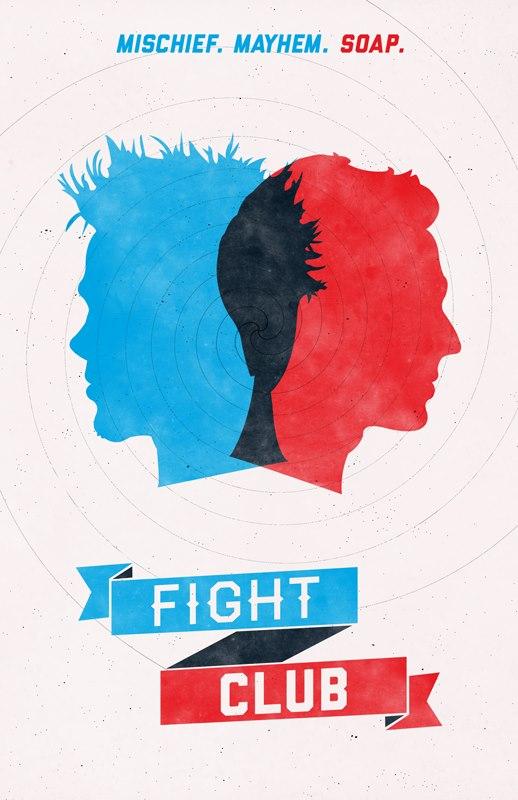 fight Poster - Fight Club Color Design.