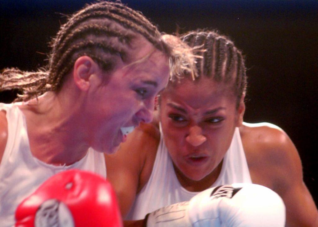 Chrsity Martin vs. Laila Ali on August 23, 2003. Ali won by KO 4.