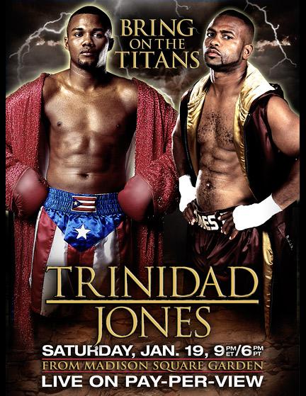 Jones-Trinidad fight poster.