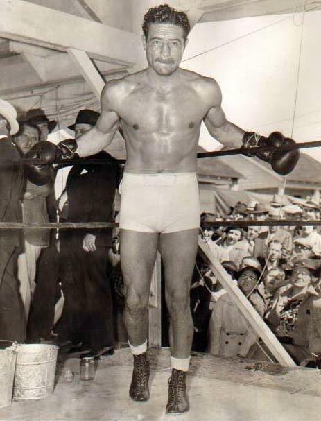 Max Baer Posed in ring.