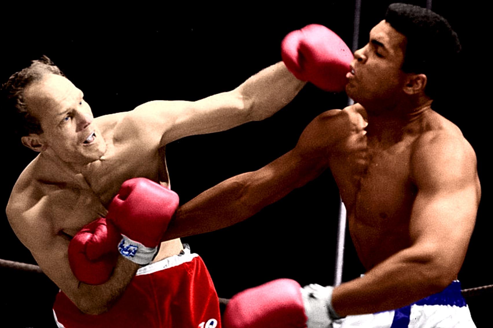 Muhammad Ali-Cooper II action shot.