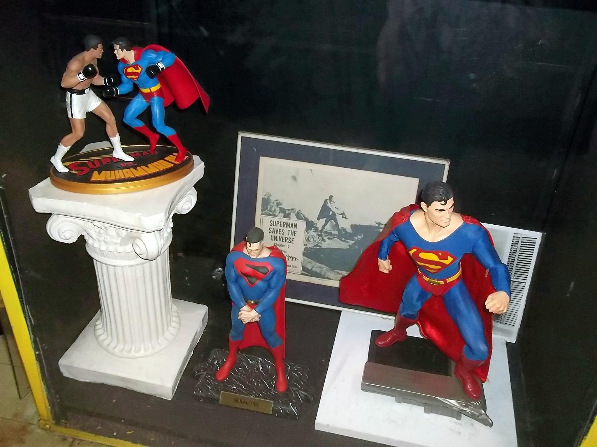 Superman figurine collection in the Super Museum in Metropolis, illinois.