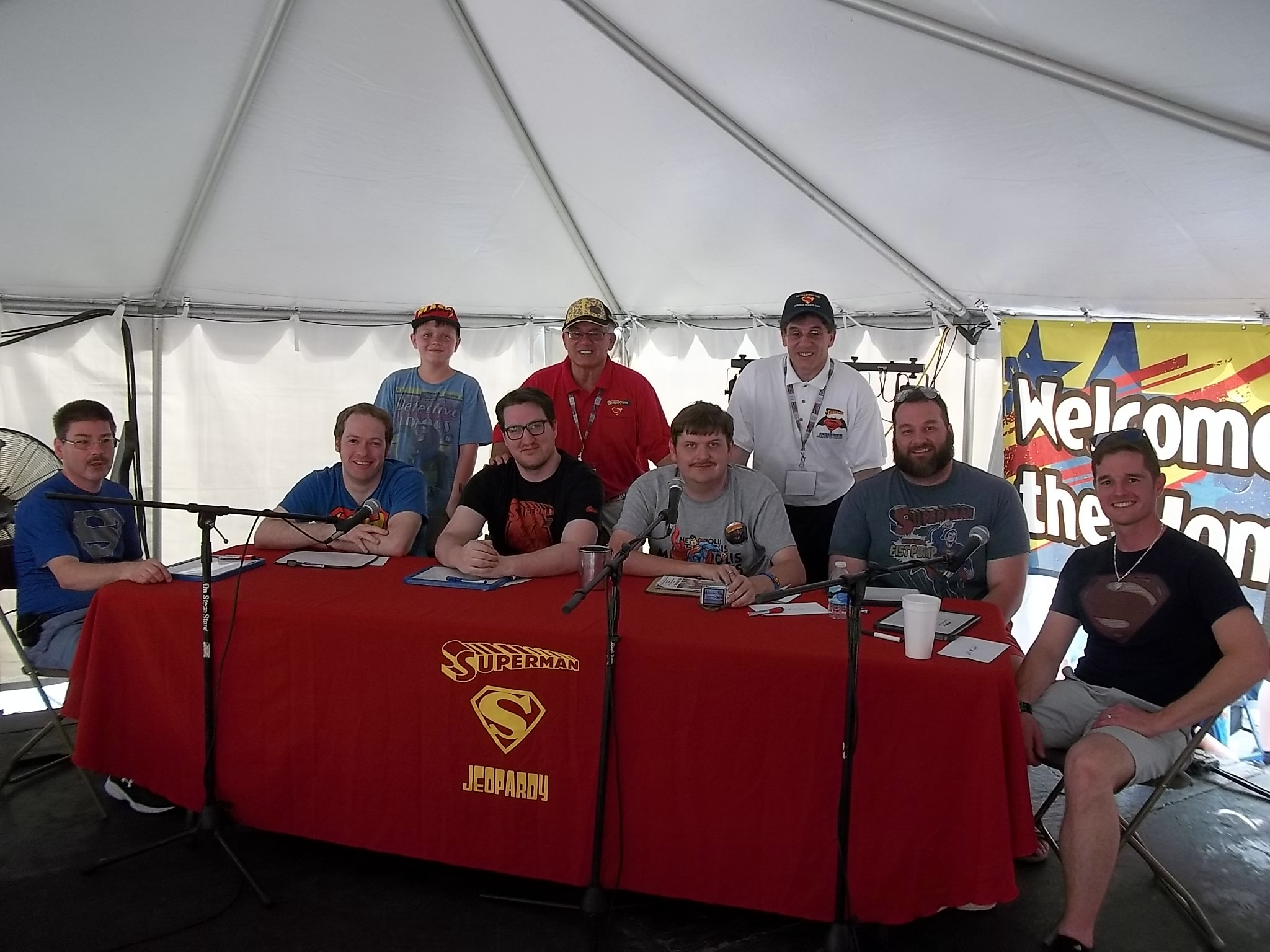 The contestants at 2016 The USA Boxing News Superman jeopardy Game