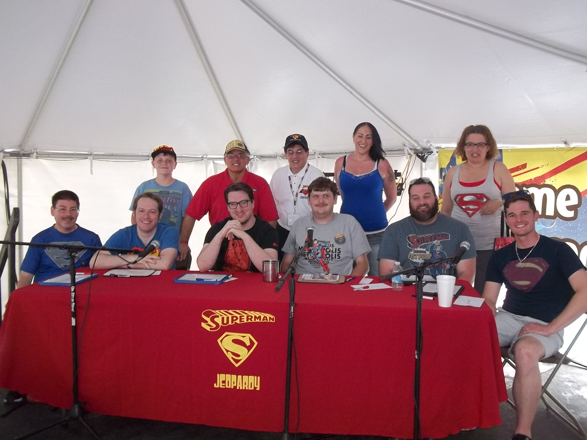 2016 Superman Jeopardy contestants and staff
