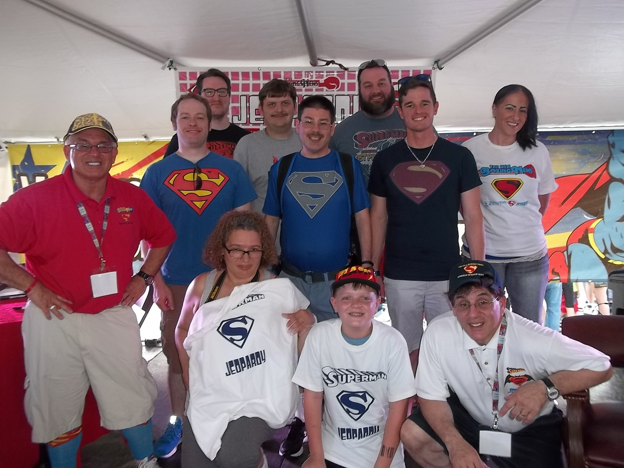 The group photo of 2016 The USA Boxing News Superman jeopardy Game