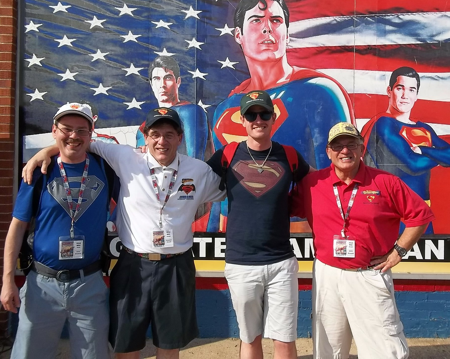 Alex and John with Chris and Patrick after the 2016 The USA Boxing News Superman jeopardy Game