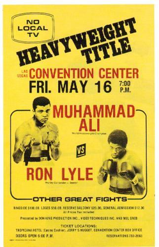 Ali vs. Lyle Poster.