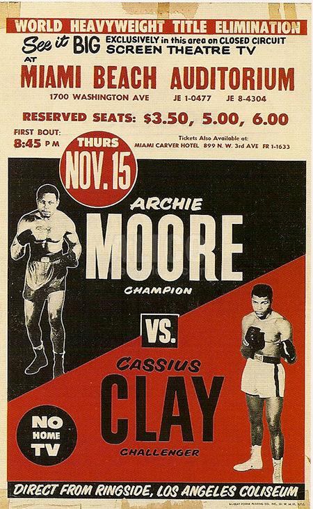 Muhammad Ali (Cassius Clay) vs. Archie Moore poster.