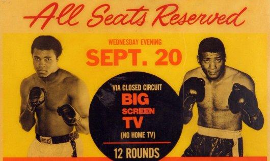 Ali vs. Patterson II fight poster.