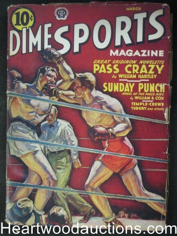 Boxing Cartoon - 1940 Dime Sports Magazine.