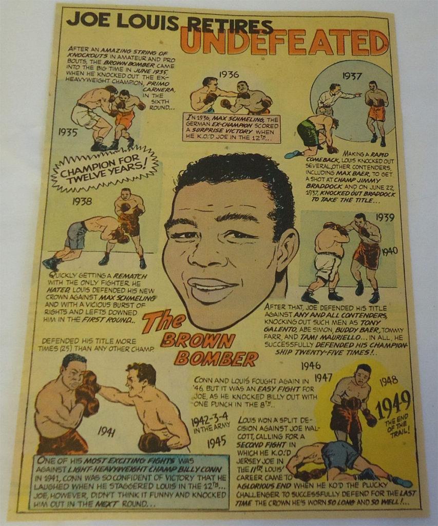 Boxing Cartoon - Joe Louis.