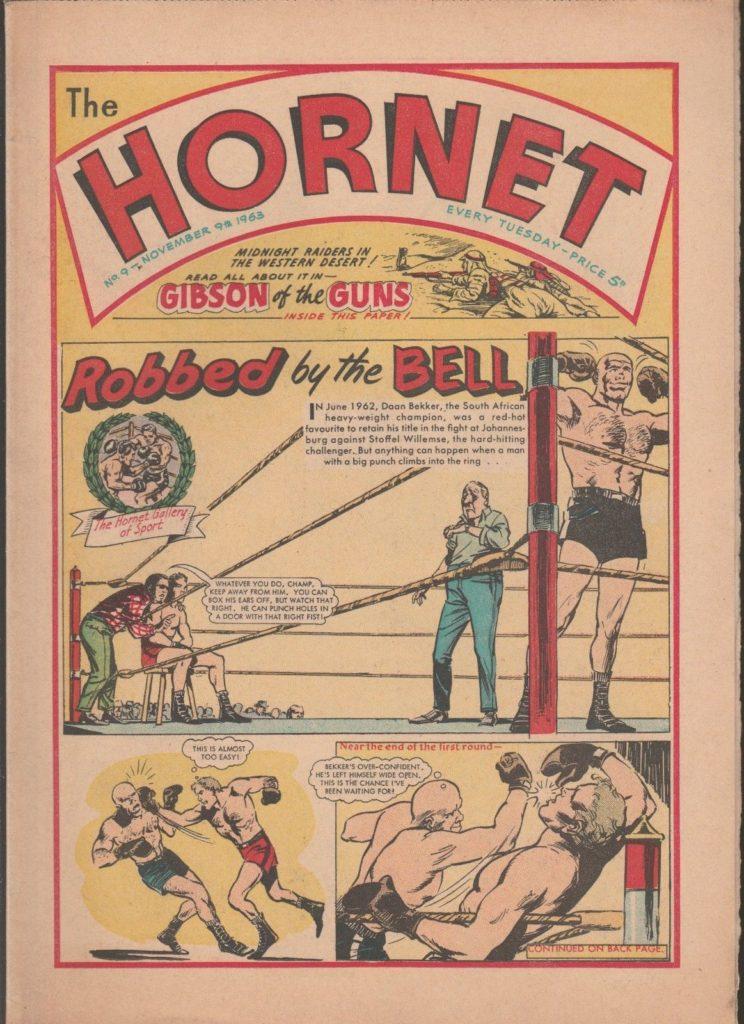 Boxing Cartoon - The Hornet 1963 British Comic.