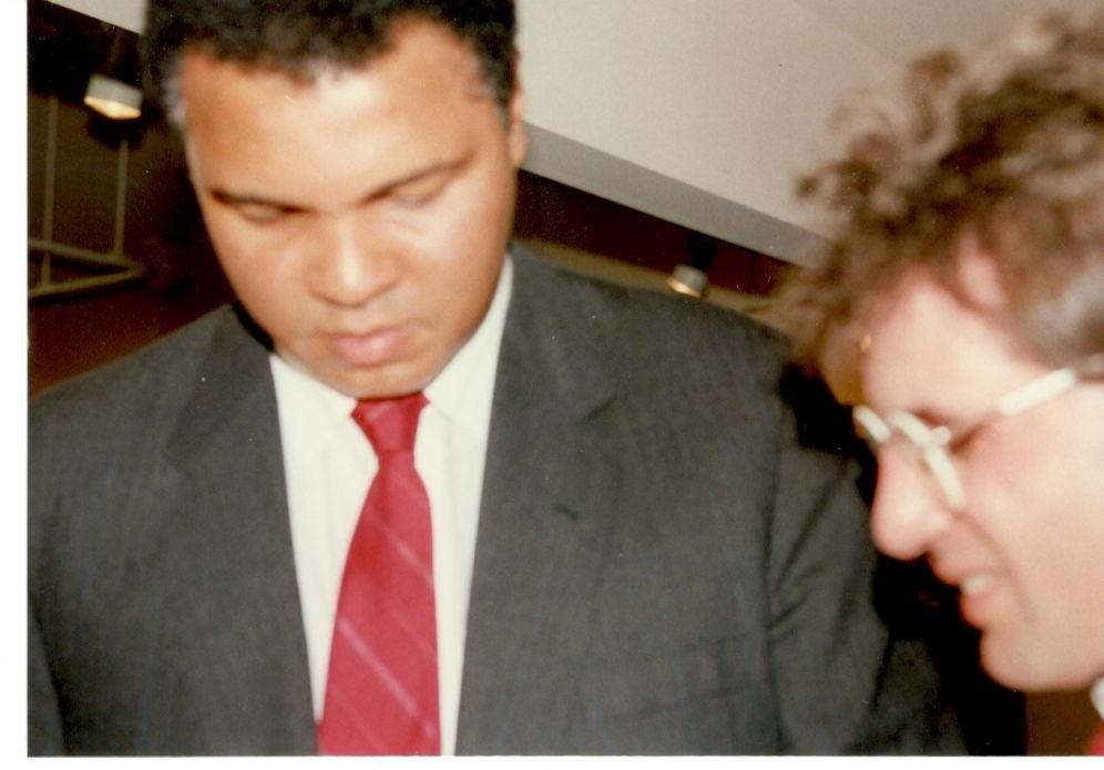 John Rinaldi interviewing Muhammad Ali.