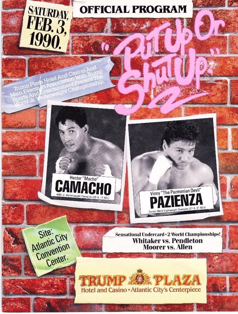Puglistic program Hector Camacho vs. Vinny Pazienza.