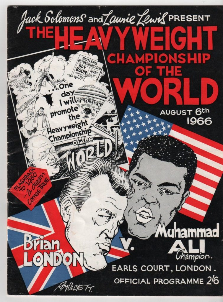Puglistic program Muhammad Ali vs. Brian London.