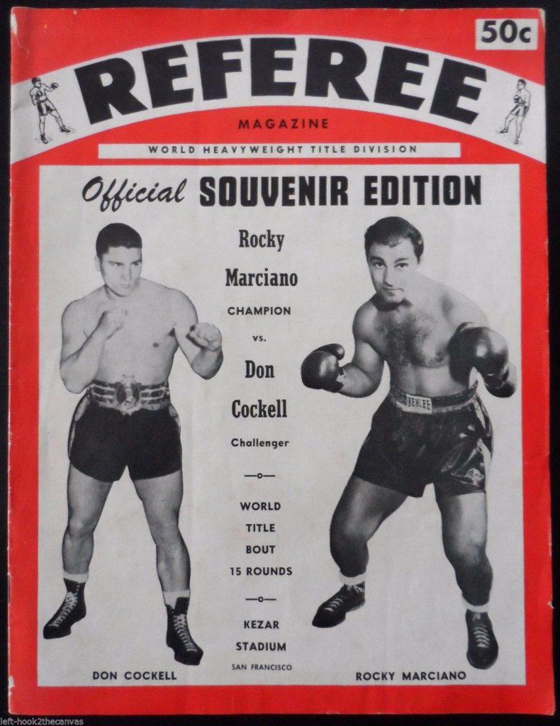 Puglistic program Rocky Marciano vs. Don Cockell.