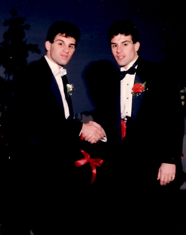 John and Alex Rnaldi in 1986 prior to the Tyson-Spinks bout.