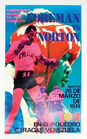 AUGUST2016George Foreman vs. Ken Norton fight poster.