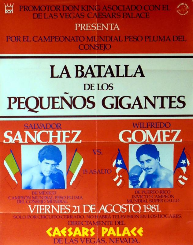 AUGUST2016Salvador Sanchez vs. Wilfredo Gomez fight poster.
