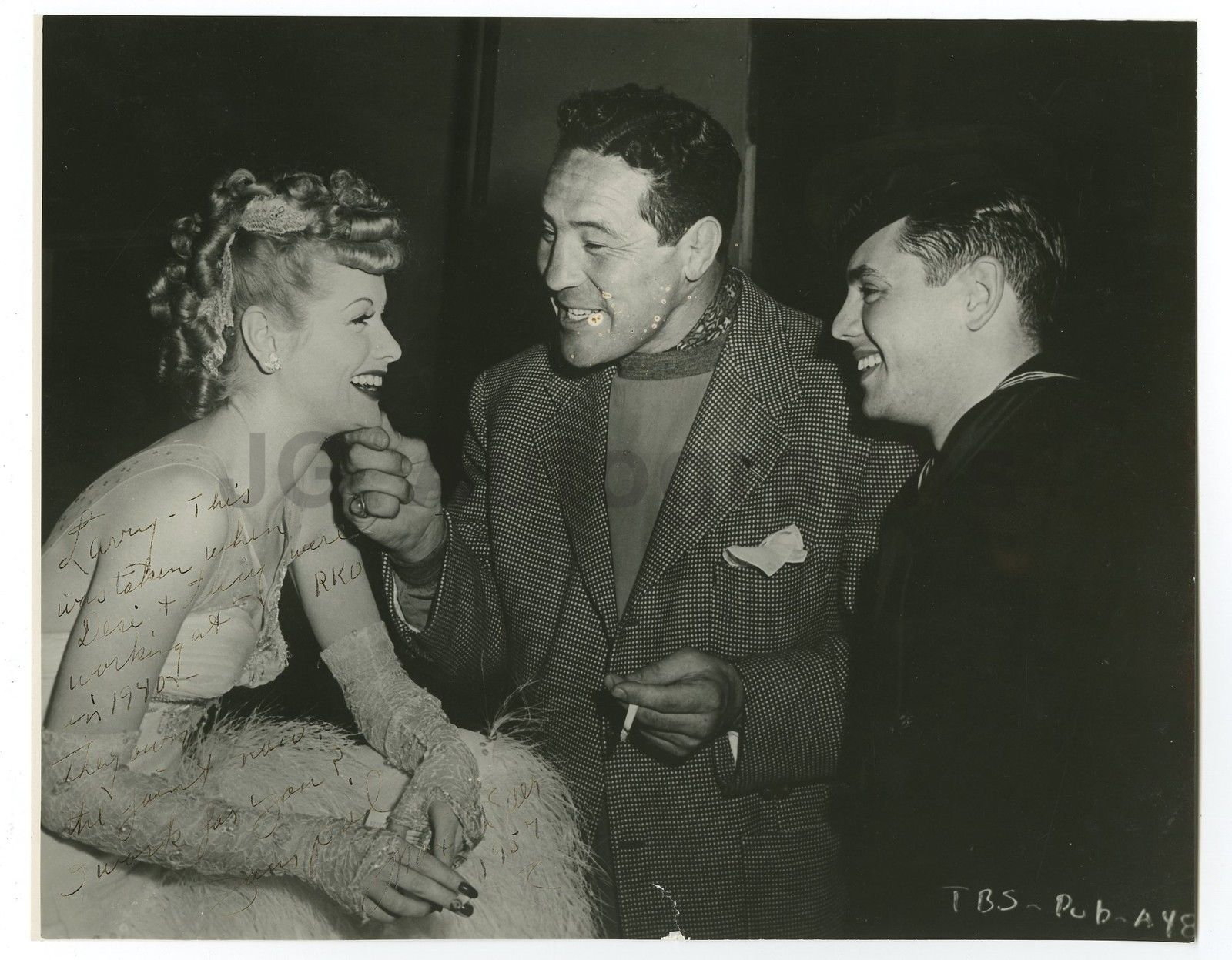 Former heavyweight king Max Baer with Lucille Ball and Desi Arnaz.