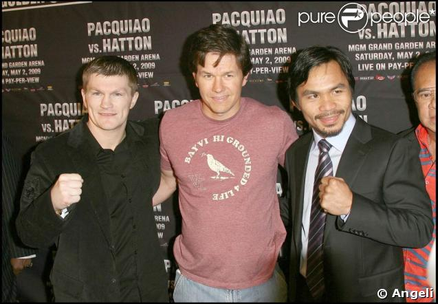 Ricky Hatton, Mark Wahlberg and Manny Pacquiao.