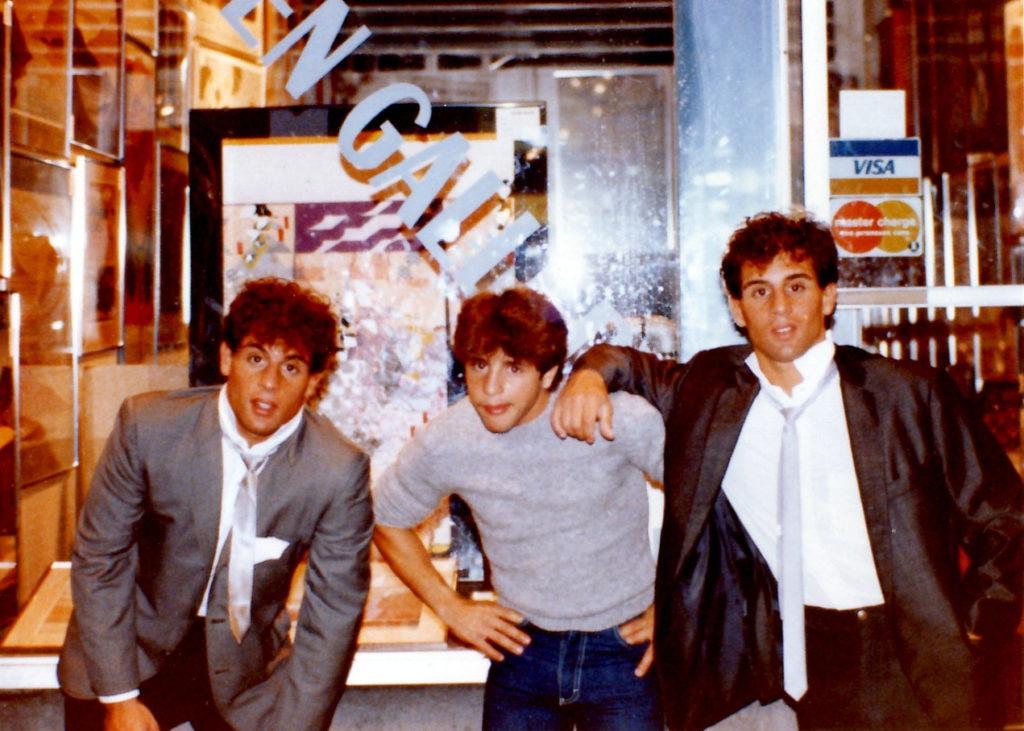 Alex, Gerard, and John Rinaldi in 1982.