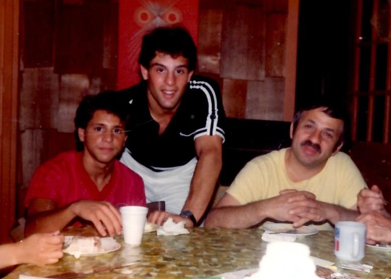 Gerard (L), Alex (Center) and Joseph Rinaldi (R) in 1982
