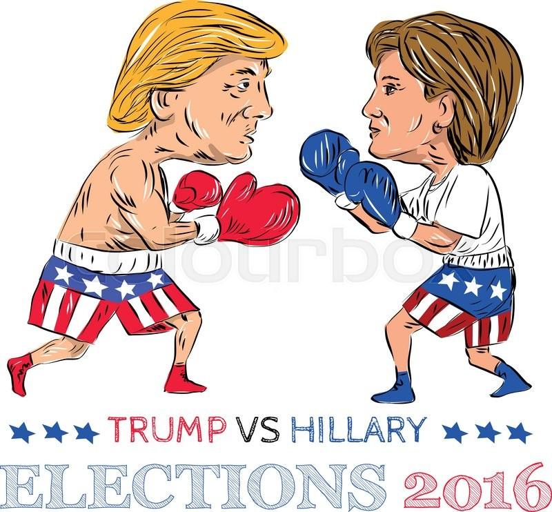 trump-vs-clinton-boxing
