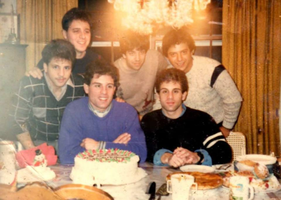 The 1985 Staff of THE USA BOXING NEWS. Standing left to right: Gerard Rinaldi, Al Giglia, Head Writer Sal Alaimo, and Salvatore Giglia. Seated: Alex and John Rinaldi.