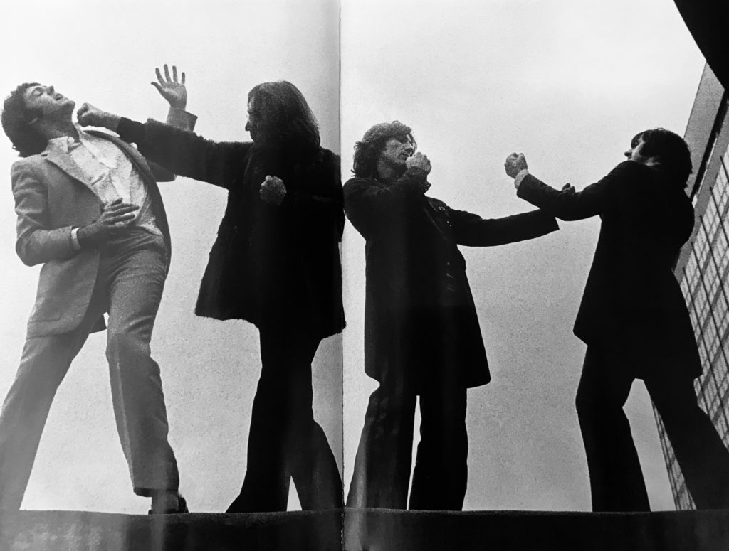 The Beatles sporting boxing poses in 1968