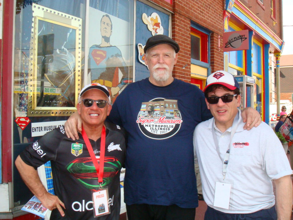 John and Alex rinaldi with iconic Superman Collector Jim Hambrick (Click on Photo to see video of Jim Hambrick's collection)