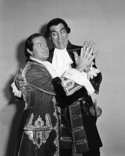 Bob Hope and Primo Carnera in CASANOVA'S BIG NIGHT.