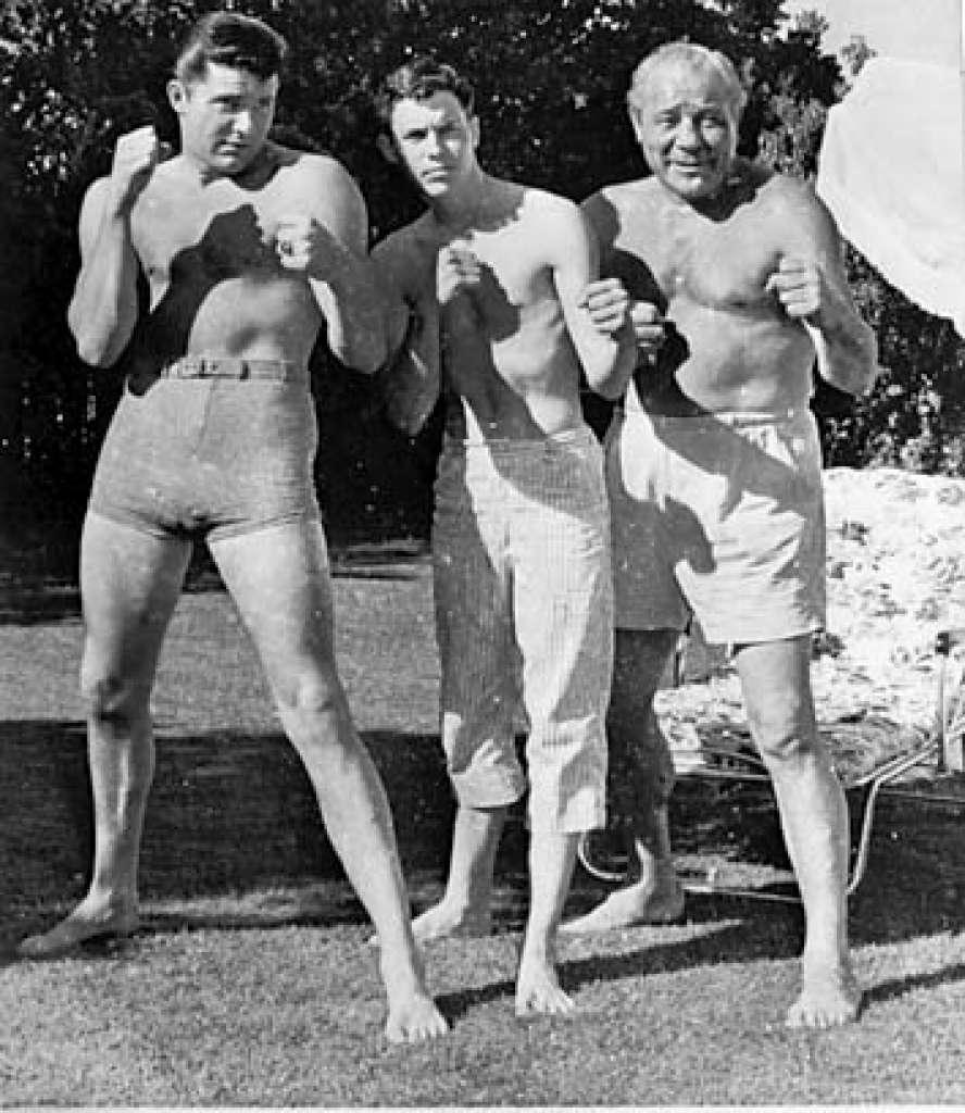 Max Baer Jr. on far left and Max Baer Sr. on far right