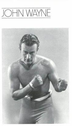 John Wayne Boxing Pose.